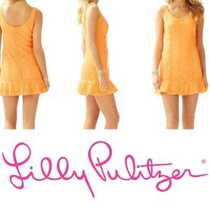 Lilly Pulitzer Peach Breakers Lace Sevilla Dress L